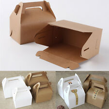 10pcs Kraft Paper Retro Boxes Candy Cake Box Wedding Shower Birthday Party Gift