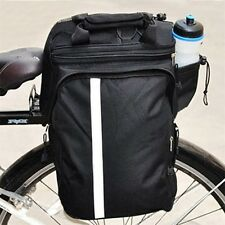 Cycling Bicycle Bike Pannier Rear Seat Bag Rack Trunk Handle Handbag Storage BR