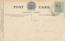SCILLY ISLANDS:1908 SCILLY  double ring cancel + cross at foot  on PPC