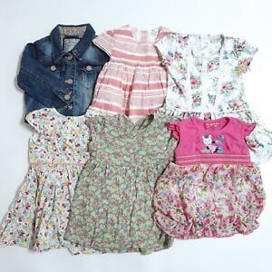 Baby Girls NEXT Summer Bundle Age 12-18 Months Denim Jacket Floral Dresses