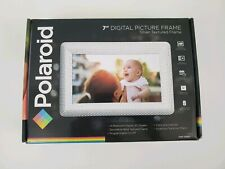 Polaroid - 7in Digital Photo Frame with Decorative Textured Silver Frame.
