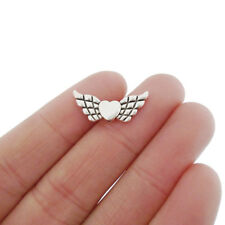 20 x Tibetan Silver Tone Angel Wing Spacer Beads for Jewellery Making 22x9mm