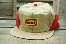 Vintage KENT Winter Flap Cap Trucker Hat Patch NOMAD Made In USA X-L