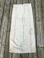 Antique Hemp Linen 3 red stripe Grain Sack Bag - Very Good Condition - #A29