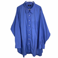 Gitman Bros Button Front Shirt Mens 20 36 Blue Brown Rust Striped Cotton L/S
