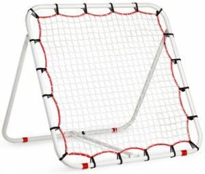 Fußball Rebounder Rückprallwand Kickback Trainingsnetz einstellbar 110 x 110 cm