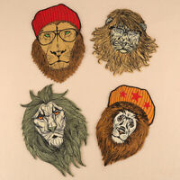Lion Patch Embroidered Badge Embroidery Applique Iron Sew On Cloth Decor