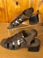 Enzo Angiolini Women's Summer Sandals Sz 10 M Leather Upper Strapy Sling Back
