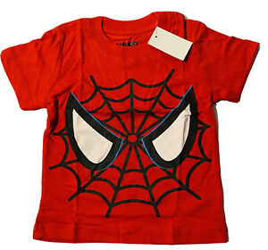 NWT SZ 4T BOYS RED MARVEL'S SPIDERMAN SHORT SLEEVED SHIRT/NEW WITH TAGS!!!
