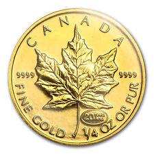 1999 Canada 1/4 oz Gold Maple Leaf BU (20 Years ANS Privy) - SKU #85579
