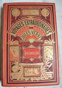 Verne Jules Cartonnage Hetzel Nord contre Sud - cartonnage Lenégre 2 Elephants