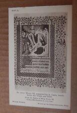 Postcard British Museum Collection Henry VI Psalter Virgin & Child