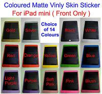 iPad Mini SPARKLES RAINBOW  Decal Skin sticker Front * for Mini iPad Only *
