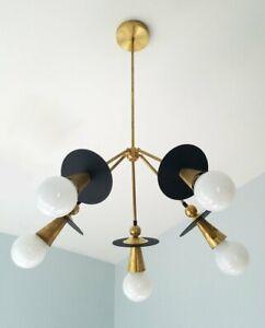 Modern Chandelier Sputnik Industrial Brass Mid Century Ceiling Fixture Light