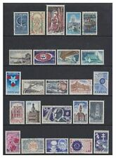 France - 1966/7, 24 x different stamps - F/U