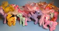 My Little Pony G3 Lot Of 10 Vintage Pegasus Wings Purple Pink Flower Lollipop