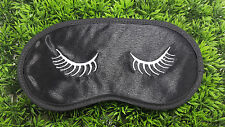 Eye Lashes Silky Satin Embroidered Sleepwear Eye Mask