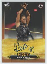 RHEA RIPLEY RC 2020 Topps WWE NXT ON CARD AUTO BRONZE 80/99 ROOKIE