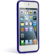 Blue TPU Skin Gel Case for Apple iPod Touch 7th 6th 5th Generation itouch Cover