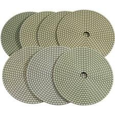 "Stadea 4"" Dry Diamond Polishing Pads for Concrete Marble-7 Pads Set"