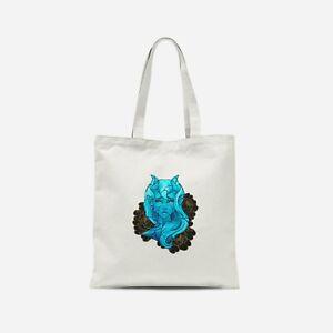 Blue Demon Girl Tote Bag - Print on Demand