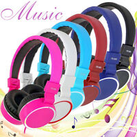 3.5mm Stereo Headphones Earphone Wired Headset with Mic For Mobile Phone MP3 PC