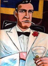 JAMES BOND PRINT poster 007 sean connery dr. no casino royale goldfinger martini