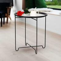 Modern Stylish Metal Round Side Table Home Office Decor Small Coffee Wine Table