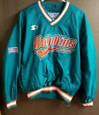 Vtg Miami Dolphins Starter Pro Line NFL Pullover Jacket Medium M 1974-1989 Logo