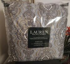 New $365 Ralph Lauren Colchester Mist Paisley Blue Queen 3-Piece Comforter Set