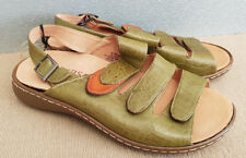 BNWT Ladies Sz 42 Rivers Riversoft Brand Olive Green Heel Buckle Sandal Shoes