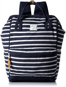 NEW Anello DayPack Backpack Rucksack Navy Border AT-B0911A  from Japan F/S