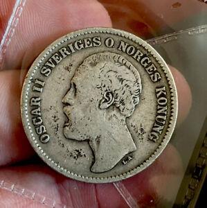 Sweden 2 Kronor 1876 GVF