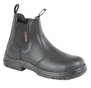 Superwide Work EEEE Black Leather Boots
