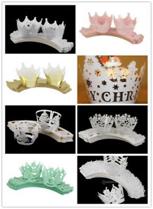 50pcs Cake Cupcake Wrappers Wraps Cases Wedding Party Birthday Baby Shower Decor