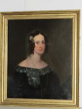 Antique Painting of A Woman, Oil on Canvas,Very Large, Late 18th-Early 19th C.