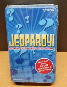New/Sealed -- Jeopardy Travel Edition 2006 in Tin Container