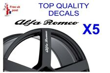 5 X ALFA ROMEO  ALLOY WHEEL Decals  sticker