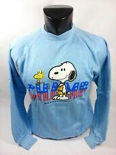 FELPA  vintage Snoopy Tg L, azzurra ,bellissima