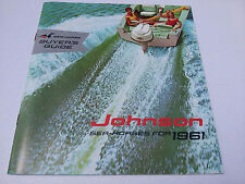 1961 JOHNSON Outboard Motor brochure OMC MINT condition boats racing