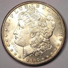 1887-S Morgan Silver Dollar $1 - Nice Uncirculated (UNC MS) - Rare Date Coin!