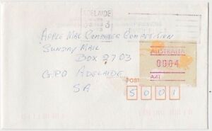 Stamp Australia 4c Lizard Frama cliche A41 on 1993 cover underpaid Adelaide
