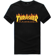 Thrasher Logo T-Shirt Tee Custom  Skateboarding Magazine Skate Gear up S - 3XL