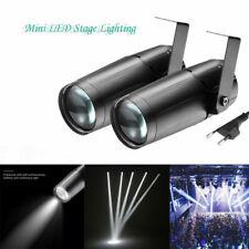 2Pcs 10W Mini Led Pinspot Light Stage Lighting Beam Spotlight Dj Disco Xmas Spin