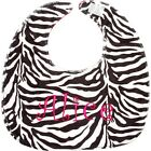 Personalized Soft Minky Bib Baby Toddler Monogram Name Embroidery