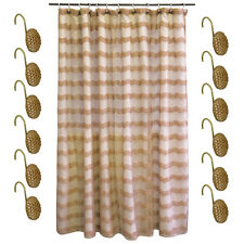 Shower Curtain and Hooks Set- Bronze Popular Bath Chateau Bathroom Collection