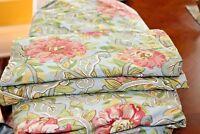 Pottery Barn Full/Queen Floral Duvet Cover + 2 Euro Pillow Cases