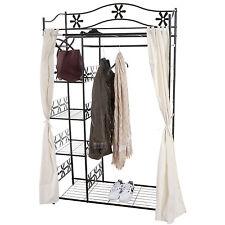 Portemanteau Genf, garde-robe armoire étagère métallique ~ avec rideau
