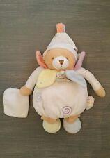 Doudou et compagnie ours blanc mouchoir pétales mon doudou à moi