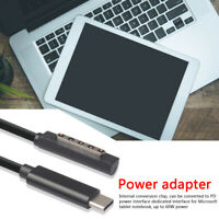1.5m USB Type C PD Cable Power Charger Cord for Microsoft Surface Pro 1/2